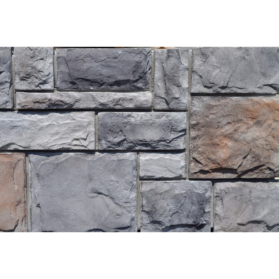 M-Rock Fortress Castle 100-sq ft Gray Stone Veneer