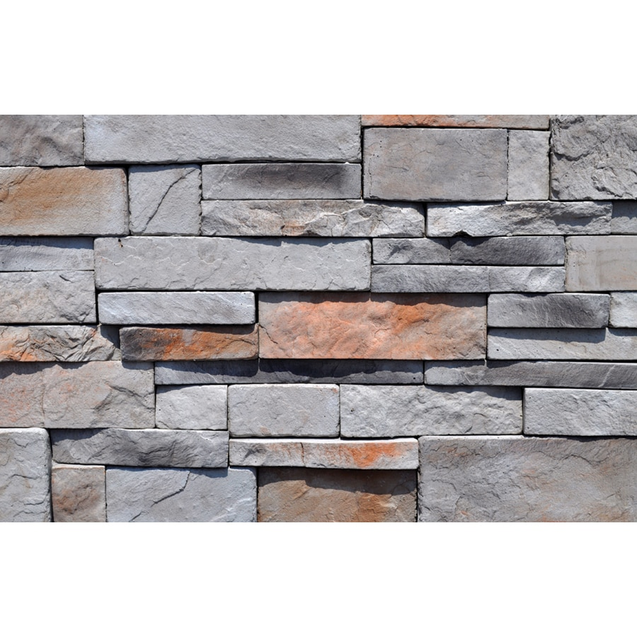 M-Rock Back Country Drystack Gray Molded Corner Stone Veneer Trim