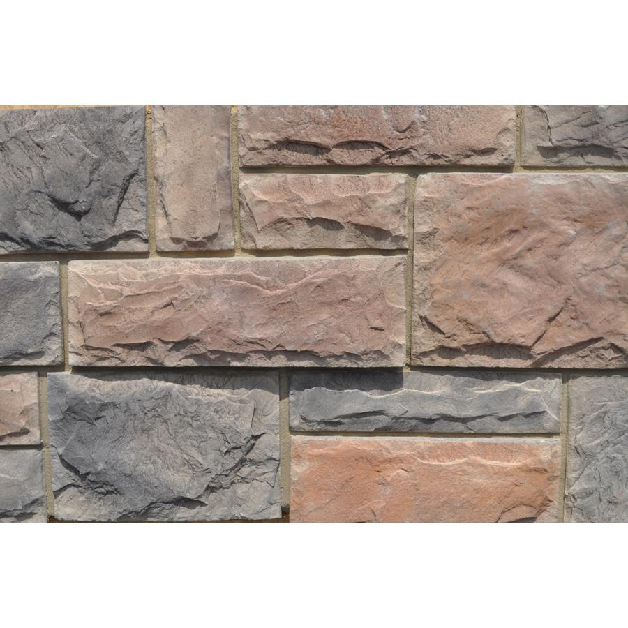 M-Rock Brookshire Castle 48-sq ft Brown Stone Veneer