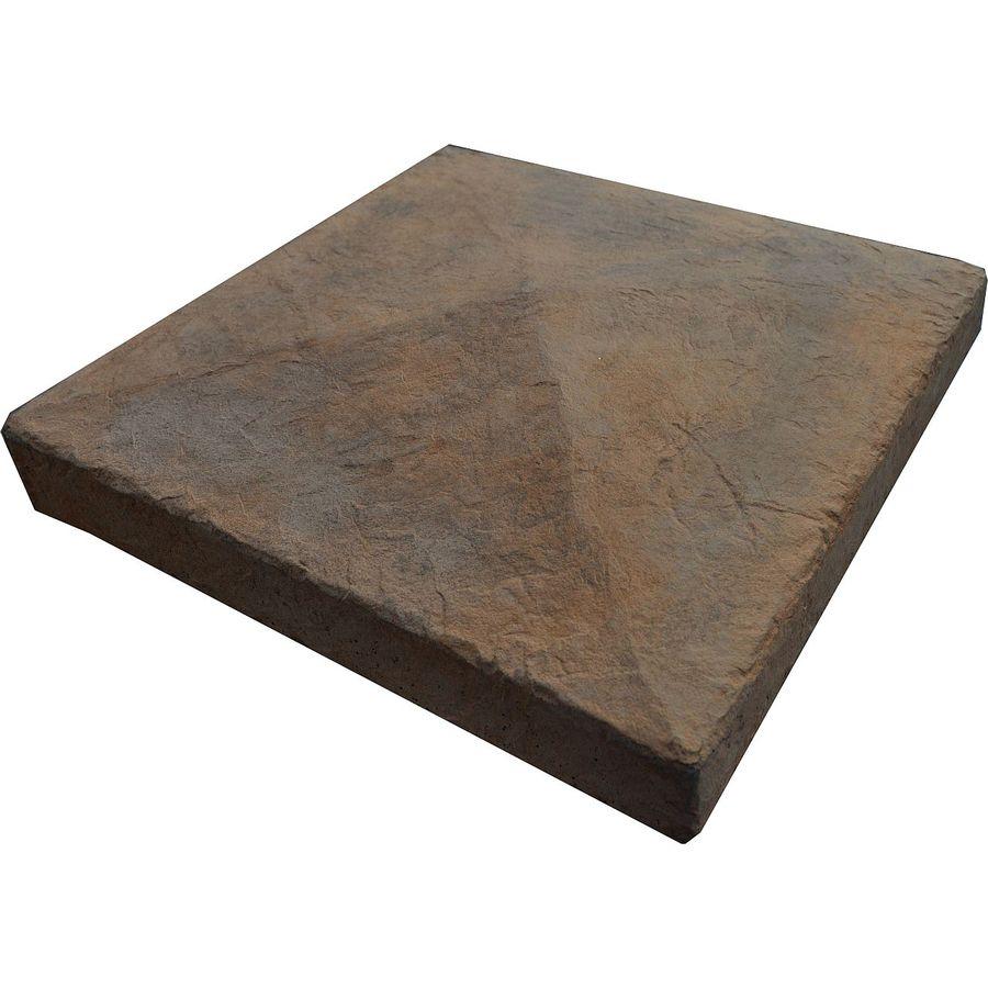 M-Rock 6x6 Pyramid Post Cap Brown Column Cap Stone Veneer Trim