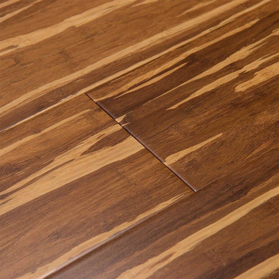 Shop cali bamboo fossilized 5 in prefinished marbled for Bamboo flooring outdoor decking