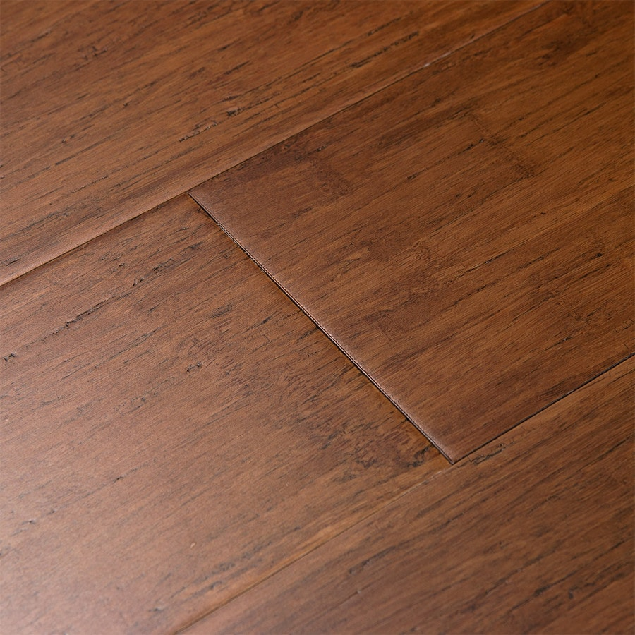 Cali Bamboo Fossilized 5-in Distressed Java Wide Click Fossilized Bamboo Hardwood Flooring (21.5-sq ft)
