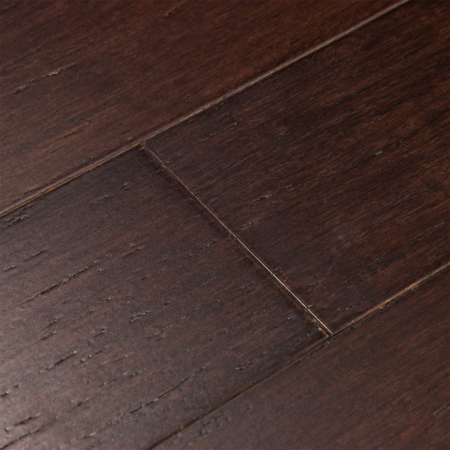 Shop cali bamboo fossilized 5 in vintage java distressed for Hardwood flooring