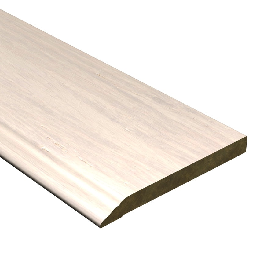 Cali Bamboo 0.56-in x 72-in White Bamboo Base Floor Moulding