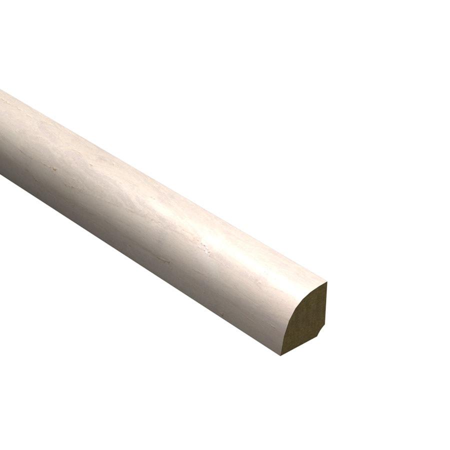 Shop cali bamboo x 72 in white bamboo quarter for Floor quarter round