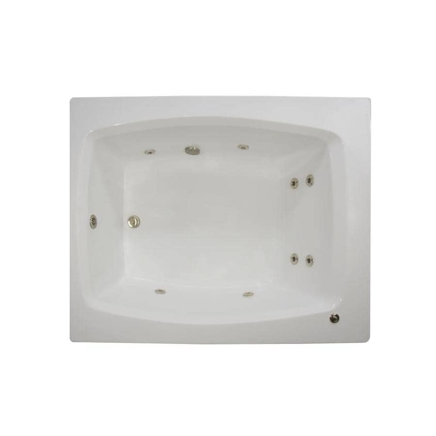 Watertech Whirlpool Baths 2-Person White Acrylic Rectangular Whirlpool Tub (Common: 48-in x 60-in; Actual: 23-in x 47.75-in x 59.75-in)