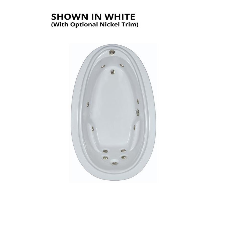 Watertech Whirlpool Baths Elite White Acrylic Oval Whirlpool Tub (Common: 44-in x 72-in; Actual: 21.25-in x 44.125-in x 70.875-in)