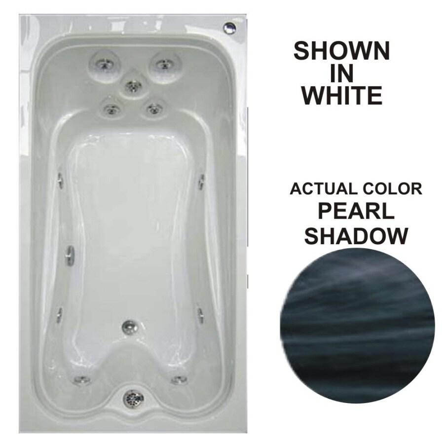 Watertech Whirlpool Baths Warertech Pearl Shadow Acrylic Rectangular Whirlpool Tub (Common: 36-in x 72-in; Actual: 21.5-in x 36-in x 72-in)