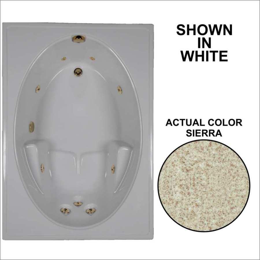 Watertech Whirlpool Baths Sierra Acrylic Oval In Rectangle Whirlpool Tub (Common: 42-in x 60-in; Actual: 19-in x 41.5-in x 59.75-in)