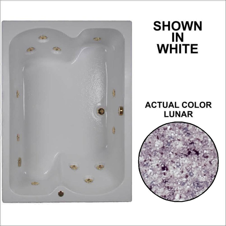 Watertech Whirlpool Baths 2-Person Lunar Acrylic Rectangular Whirlpool Tub (Common: 43-in x 60-in; Actual: 23.25-in x 42.75-in x 59.75-in)