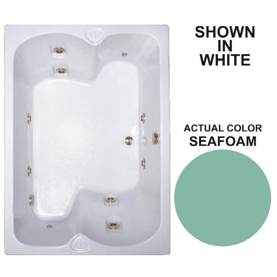 Watertech Whirlpool Baths Warertech 2-Person Seafoam Acrylic Rectangular Whirlpool Tub (Common: 43-in x 60-in; Actual: 23.25-in x 42.75-in x 59.75-in)