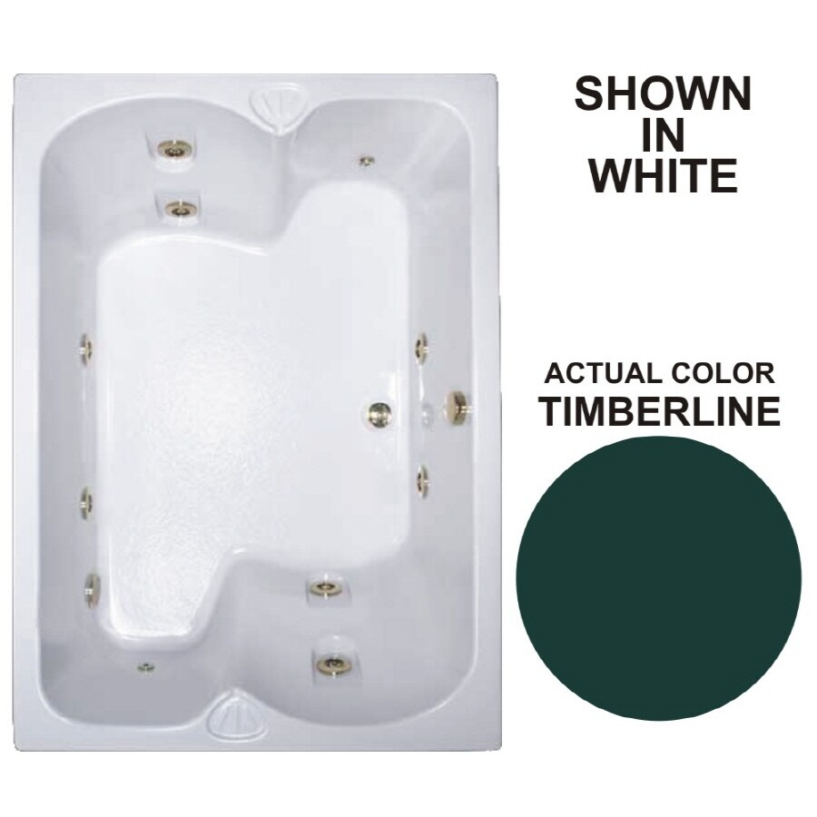 Watertech Whirlpool Baths Warertech 2-Person Timberline Acrylic Rectangular Whirlpool Tub (Common: 43-in x 60-in; Actual: 23.25-in x 42.75-in x 59.75-in)
