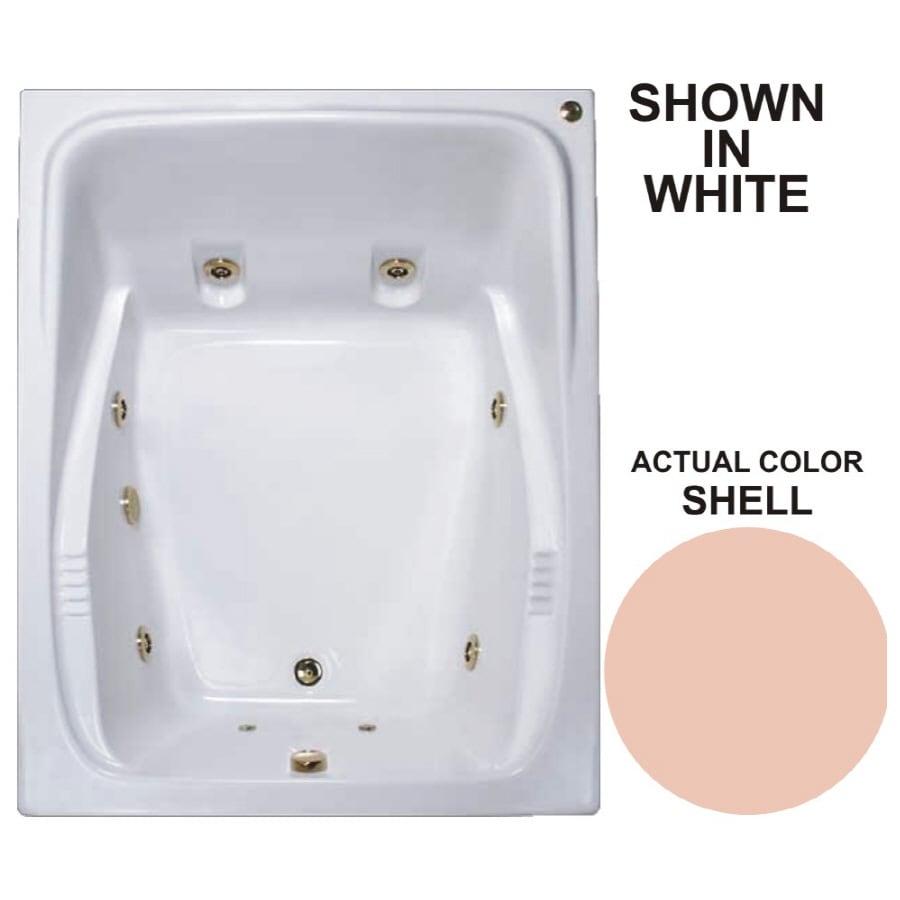 Watertech Whirlpool Baths Warertech 2-Person Shell Acrylic Rectangular Whirlpool Tub (Common: 48-in x 60-in; Actual: 23-in x 47.75-in x 59.75-in)