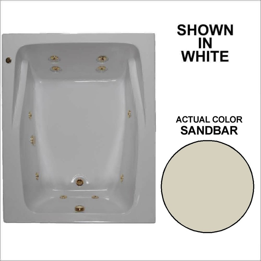 Watertech Whirlpool Baths 2-Person Sandbar Acrylic Rectangular Whirlpool Tub (Common: 48-in x 60-in; Actual: 23-in x 47.75-in x 59.75-in)