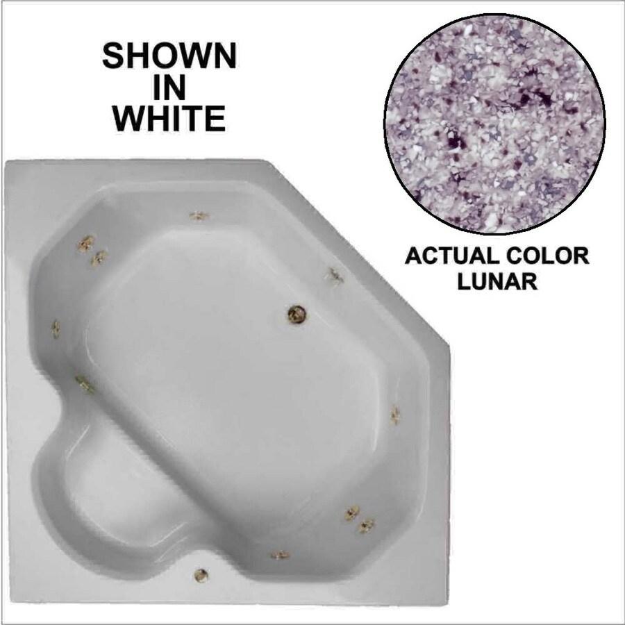 Watertech Whirlpool Baths 2-Person Lunar Acrylic Corner Whirlpool Tub (Common: 60-in x 60-in; Actual: 20-in x 60-in x 60-in)