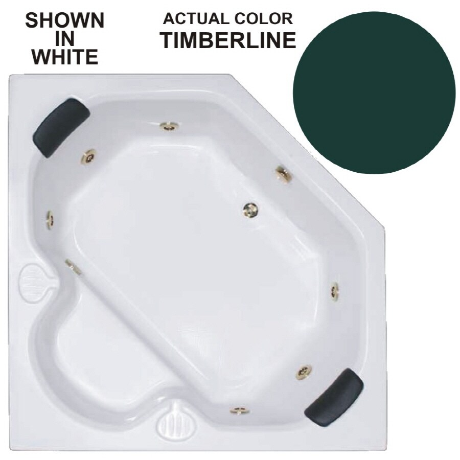 Watertech Whirlpool Baths Warertech 2-Person Timberline Acrylic Corner Whirlpool Tub (Common: 60-in x 60-in; Actual: 20-in x 60-in x 60-in)