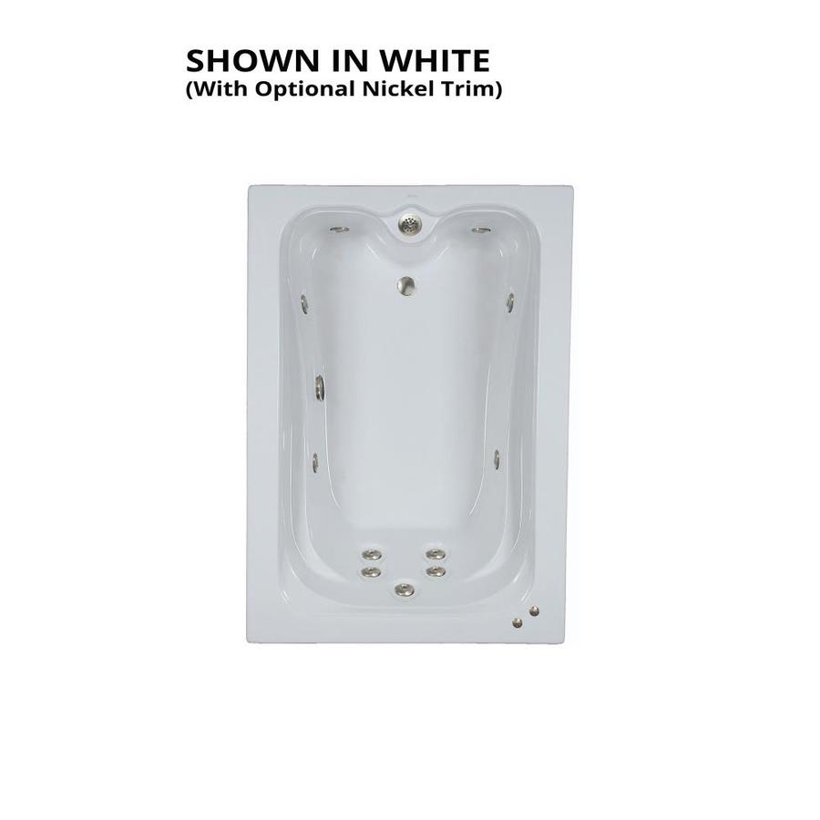 Watertech Whirlpool Baths Elite White Acrylic Rectangular Whirlpool Tub (Common: 42-in x 60-in; Actual: 21.88-in x 41.5-in x 59.75-in)