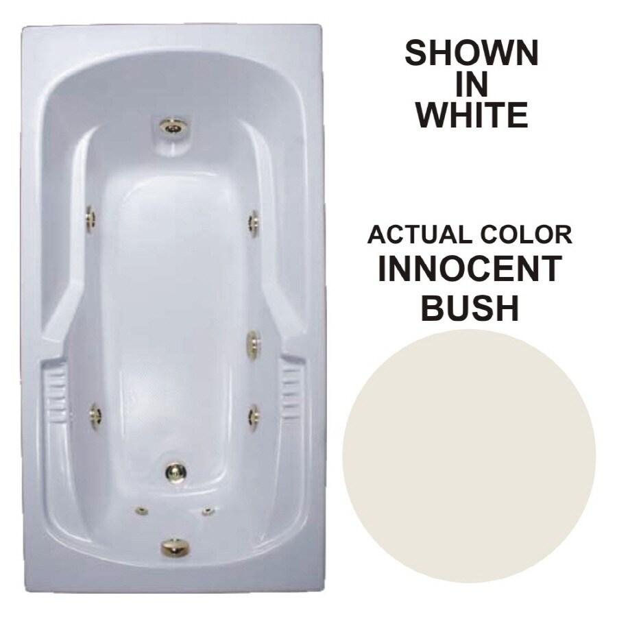 Watertech Whirlpool Baths Warertech Innocent Blush Acrylic Rectangular Whirlpool Tub (Common: 36-in x 72-in; Actual: 20-in x 36-in x 72-in)