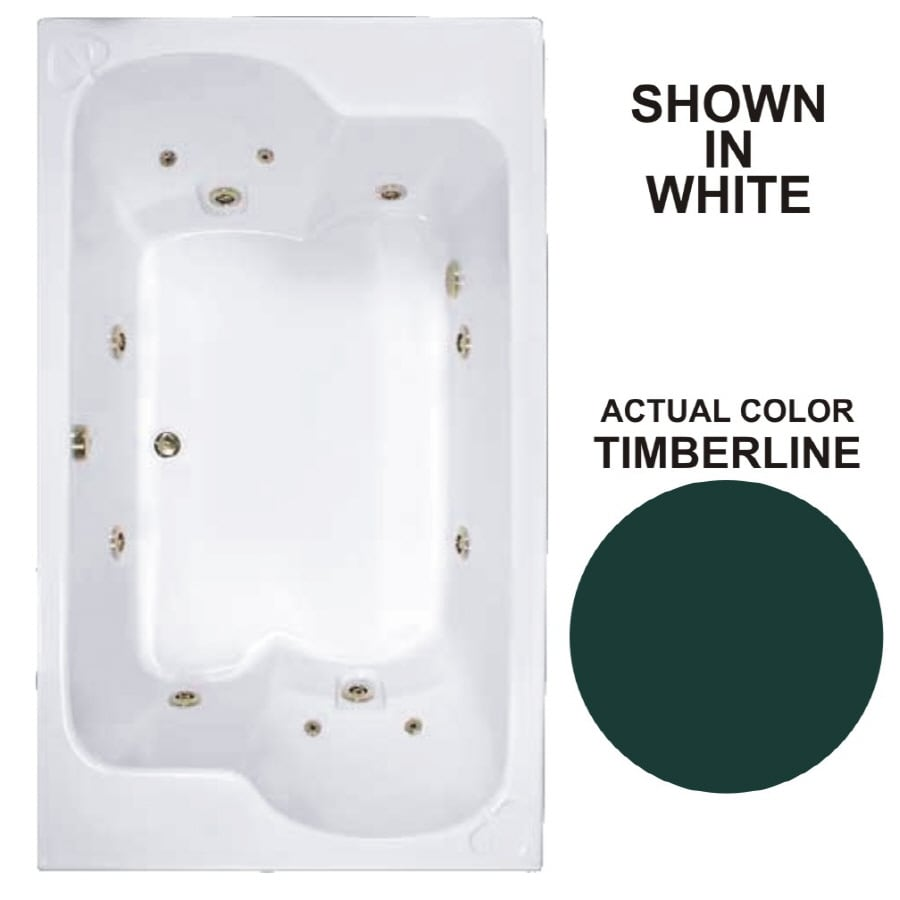 Watertech Whirlpool Baths Designer 2-Person Timberline Acrylic Rectangular Whirlpool Tub (Common: 43-in x 72-in; Actual: 23.25-in x 42.625-in x 71.75-in)