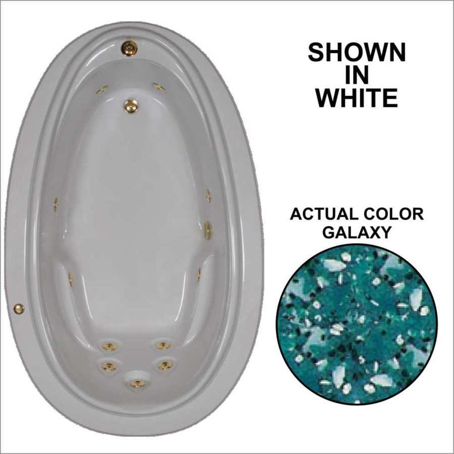Watertech Whirlpool Baths Elite Galaxy Acrylic Oval Whirlpool Tub (Common: 44-in x 72-in; Actual: 21.25-in x 44.125-in x 70.875-in)