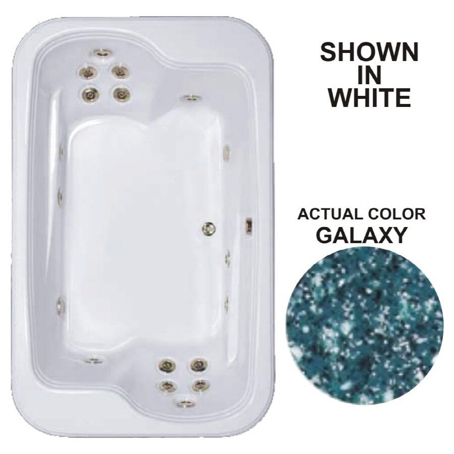 Watertech Whirlpool Baths Designer 2-Person Galaxy Acrylic Rectangular Whirlpool Tub (Common: 45-in x 72-in; Actual: 25.375-in x 44.5-in x 71.5-in)