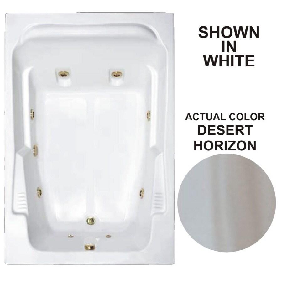 Watertech Whirlpool Baths Designer 2-Person Desert Horizon Acrylic Rectangular Whirlpool Tub (Common: 48-in x 72-in; Actual: 22-in x 48.25-in x 71.75-in)