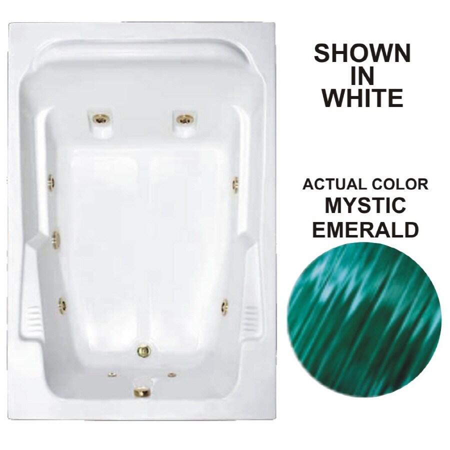 Watertech Whirlpool Baths Designer 2-Person Mystic Emerald Acrylic Rectangular Whirlpool Tub (Common: 48-in x 72-in; Actual: 22-in x 48.25-in x 71.75-in)