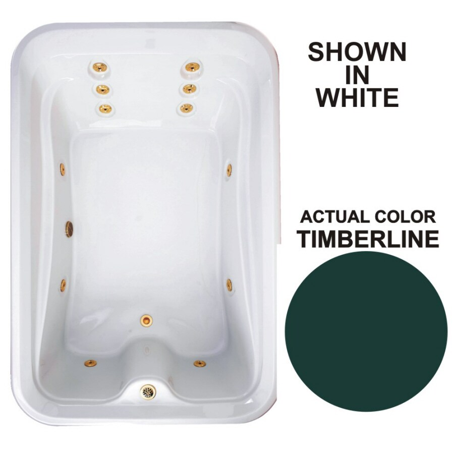 Watertech Whirlpool Baths Elite 2-Person Timberline Acrylic Rectangular Whirlpool Tub (Common: 48-in x 72-in; Actual: 21.5-in x 48-in x 72-in)