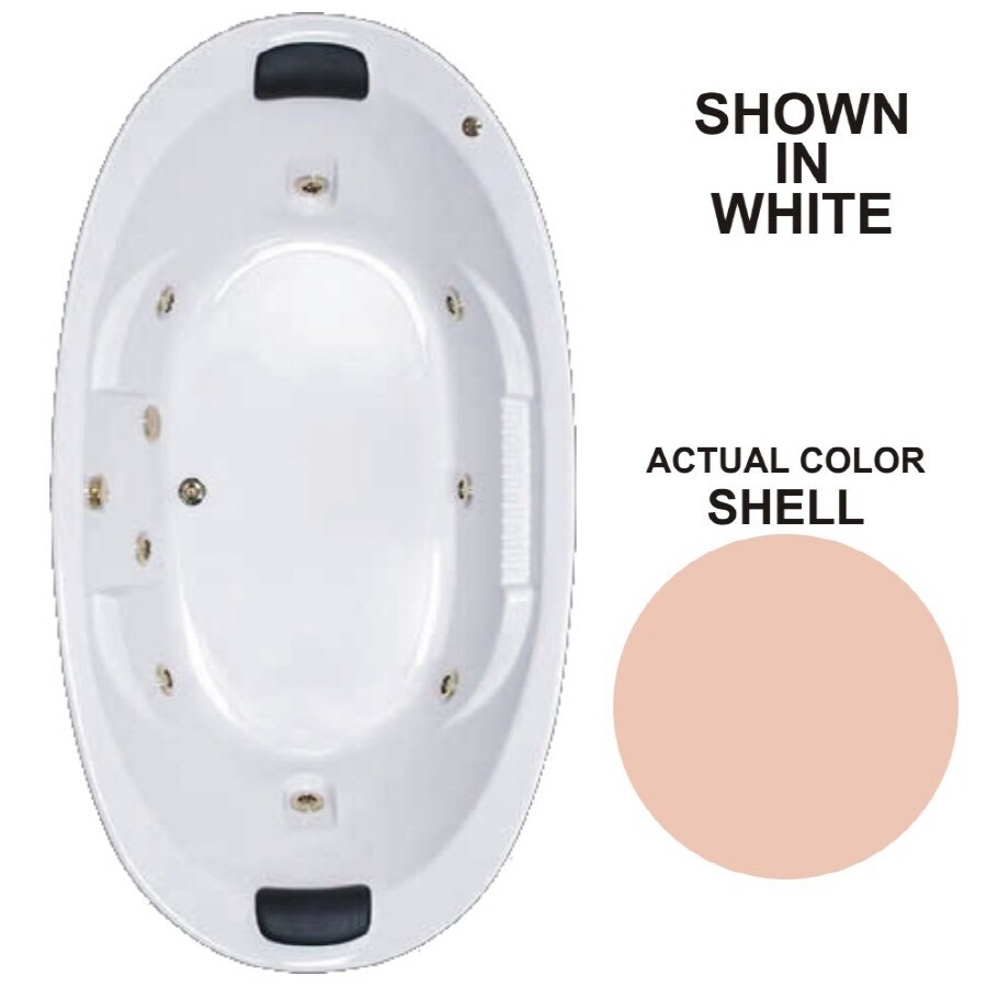 Watertech Whirlpool Baths Designer 2-Person Shell Acrylic Oval Whirlpool Tub (Common: 46-in x 84-in; Actual: 21.375-in x 45.75-in x 83.625-in)