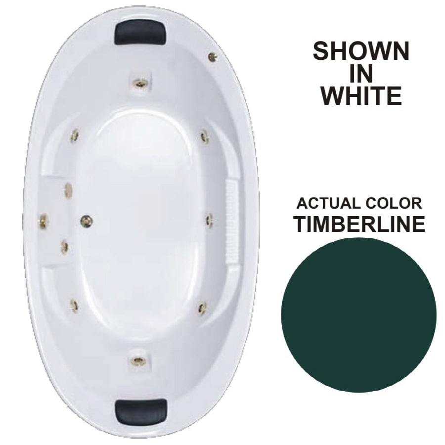Watertech Whirlpool Baths Designer 2-Person Timberline Acrylic Oval Whirlpool Tub (Common: 46-in x 84-in; Actual: 21.375-in x 45.75-in x 83.625-in)