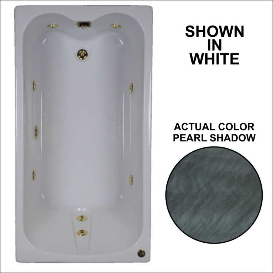 Watertech Whirlpool Baths Pearl Shadow Acrylic Rectangular Whirlpool Tub (Common: 32-in x 60-in; Actual: 22.5-in x 31.75-in x 59.75-in)