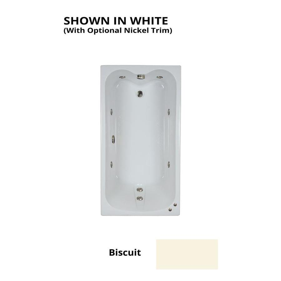 Watertech Whirlpool Baths Biscuit Acrylic Rectangular Whirlpool Tub (Common: 32-in x 60-in; Actual: 22.5-in x 31.75-in x 59.75-in)