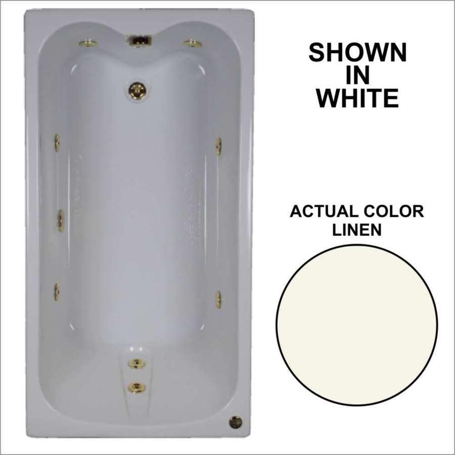 Watertech Whirlpool Baths Linen Acrylic Rectangular Whirlpool Tub (Common: 32-in x 60-in; Actual: 22.5-in x 31.75-in x 59.75-in)