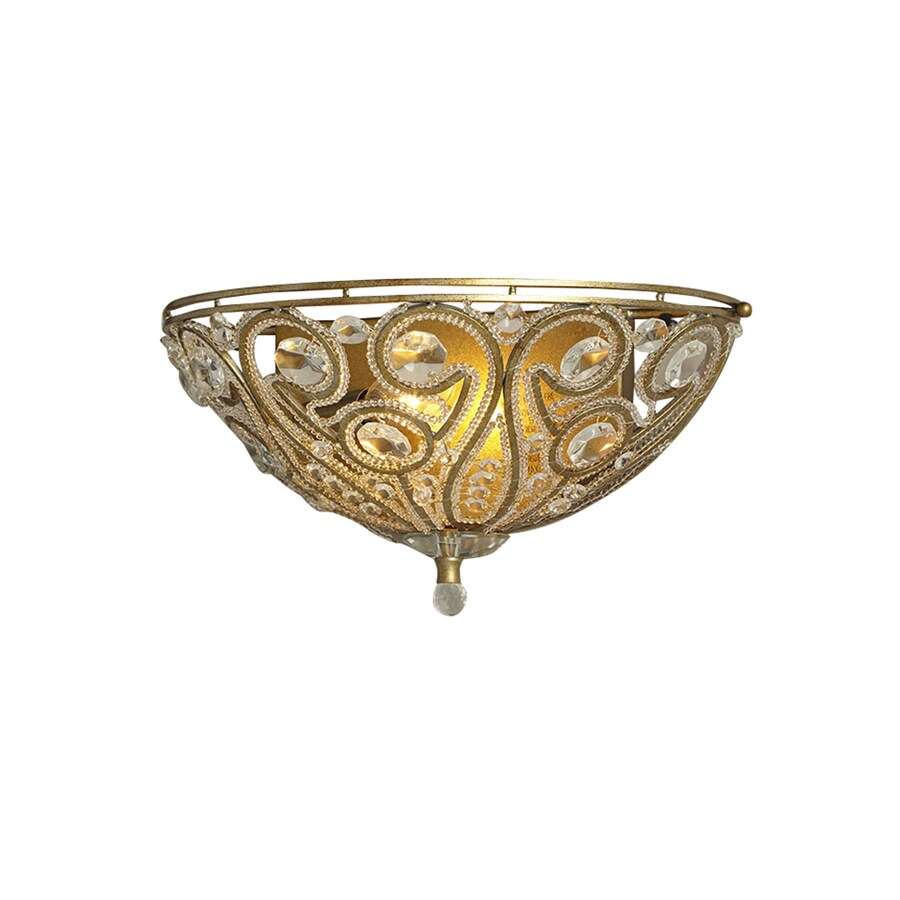 Portfolio Sequina 12.99-in W 1-Light Specialty Antique Gold Pocket Hardwired Wall Sconce