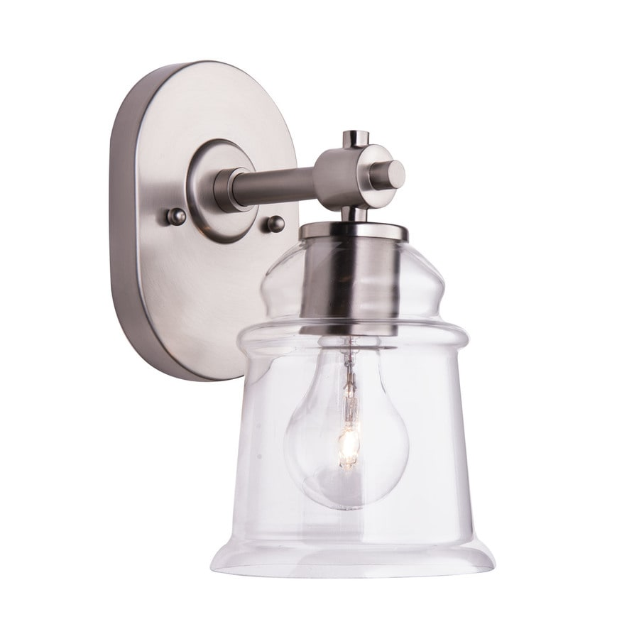Shop allen + roth Winbrell 1-Light Brushed Nickel Bell Vanity Light at Lowes.com