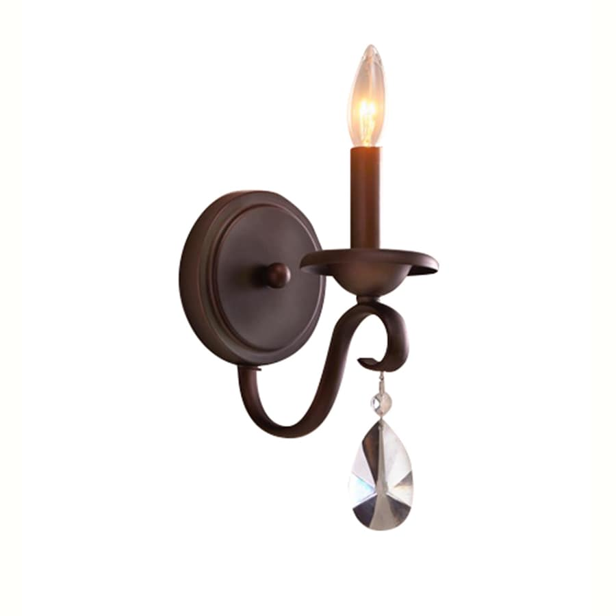 Portfolio Marimay 5-in W 1-Light Dark Bronze Arm Hardwired Wall Sconce