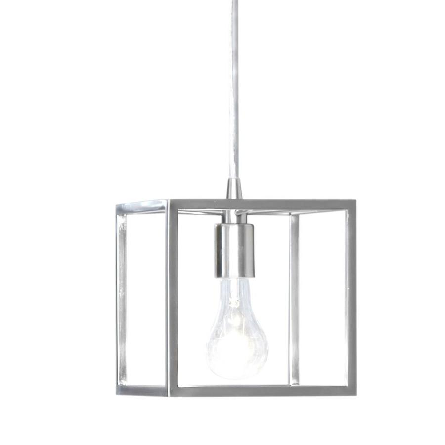 Style Selections Arctura 7.01-in Brushed Nickel Industrial Mini Cage Pendant