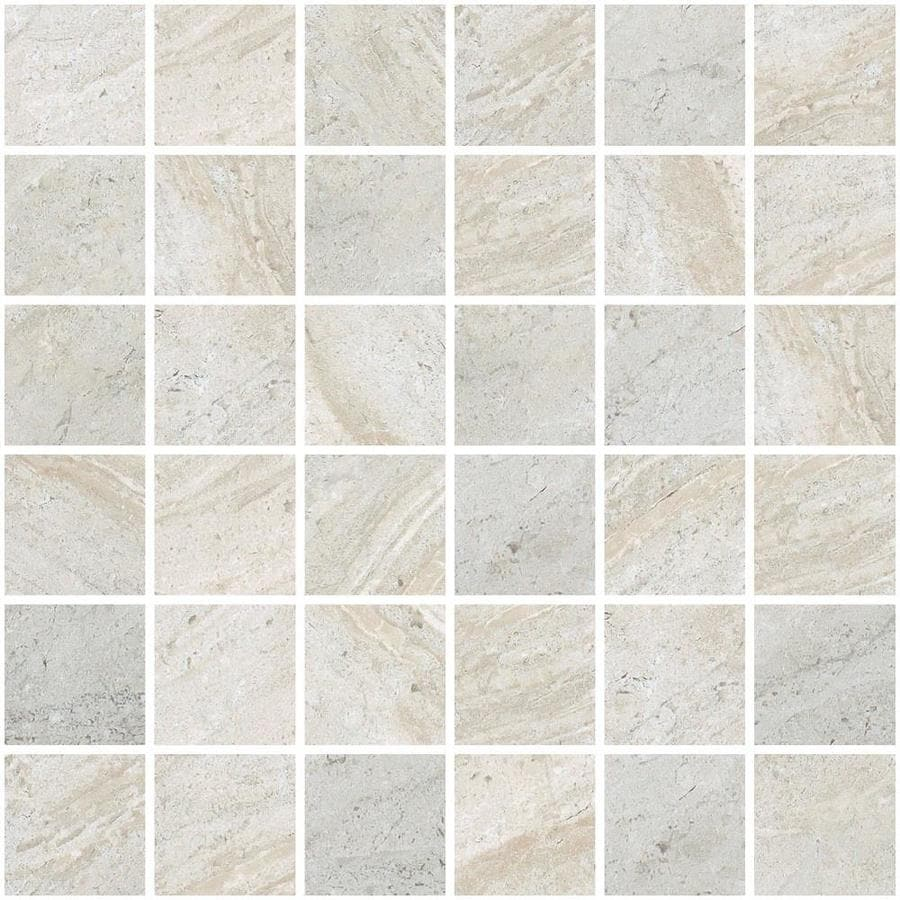 Style Selections Classico Taupe Uniform Squares Mosaic Porcelain Floor and Wall Tile (Common: 12-in x 12-in; Actual: 11.81-in x 11.81-in)