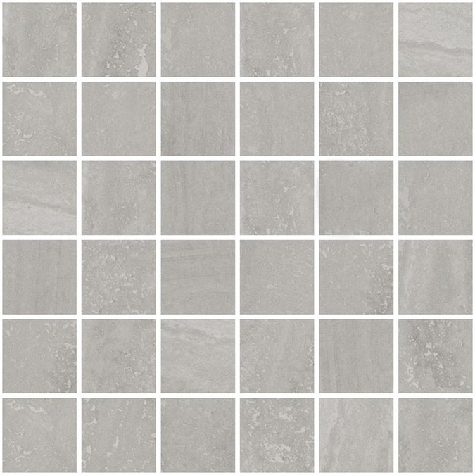 Style Selections Ridgemont Silver 12-in x 12-in Glazed