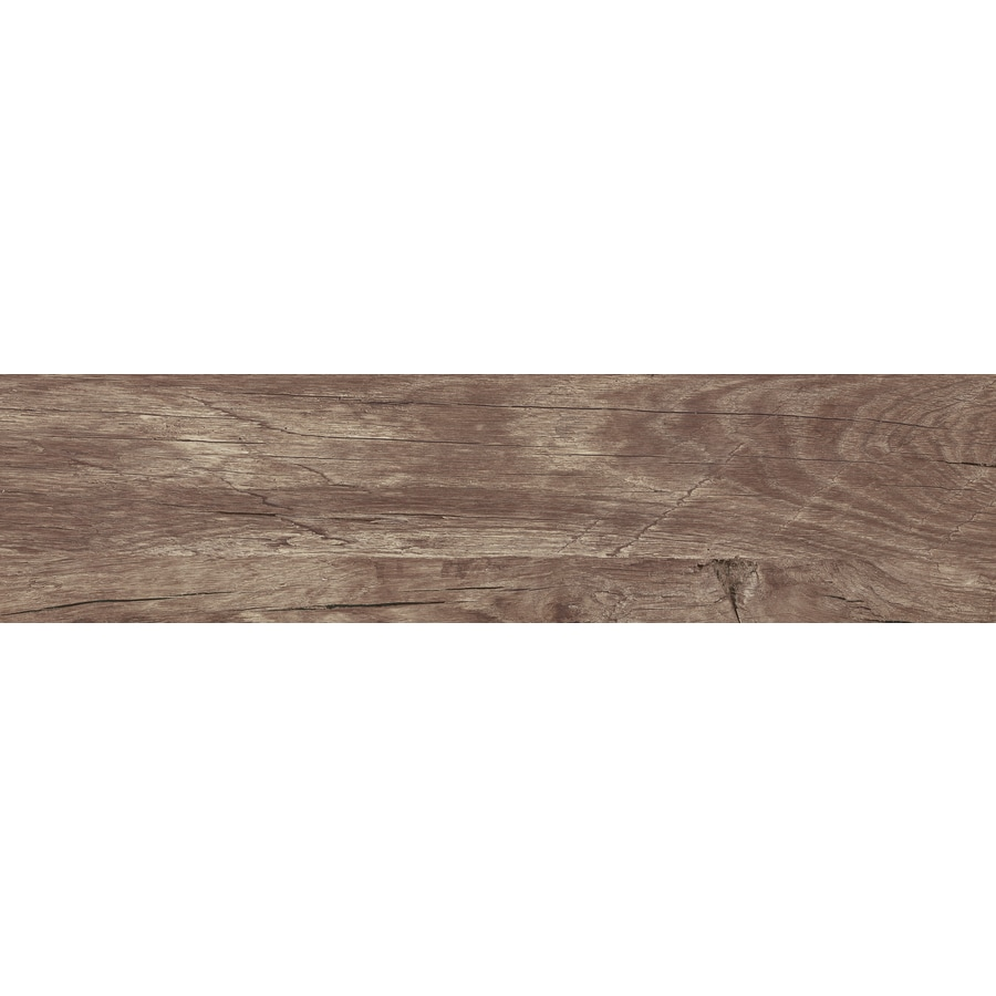 Style Selections Woods Noce Wood Look Porcelain Floor and Wall Tile (Common: 8-in x 32-in; Actual: 31.44-in x 7.84-in)