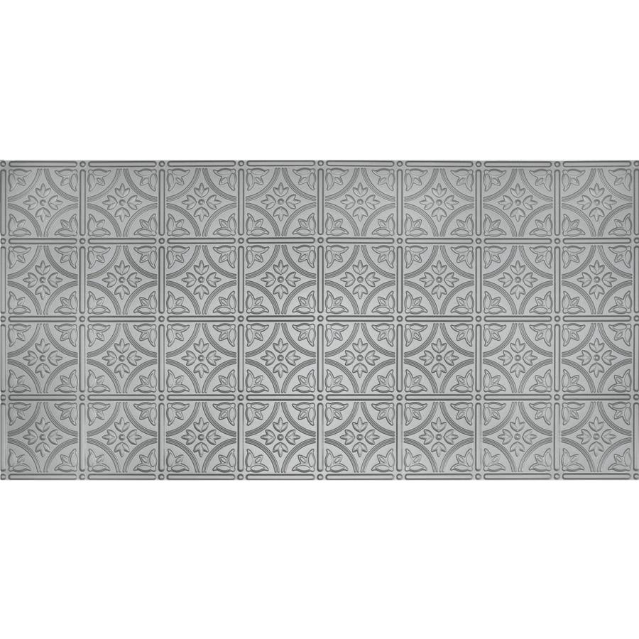 Dimensions Nickel Faux Tin Surface-Mount Ceiling Tiles (Common: 48-in x 24-in; Actual: 48.5-in x 24.5-in)
