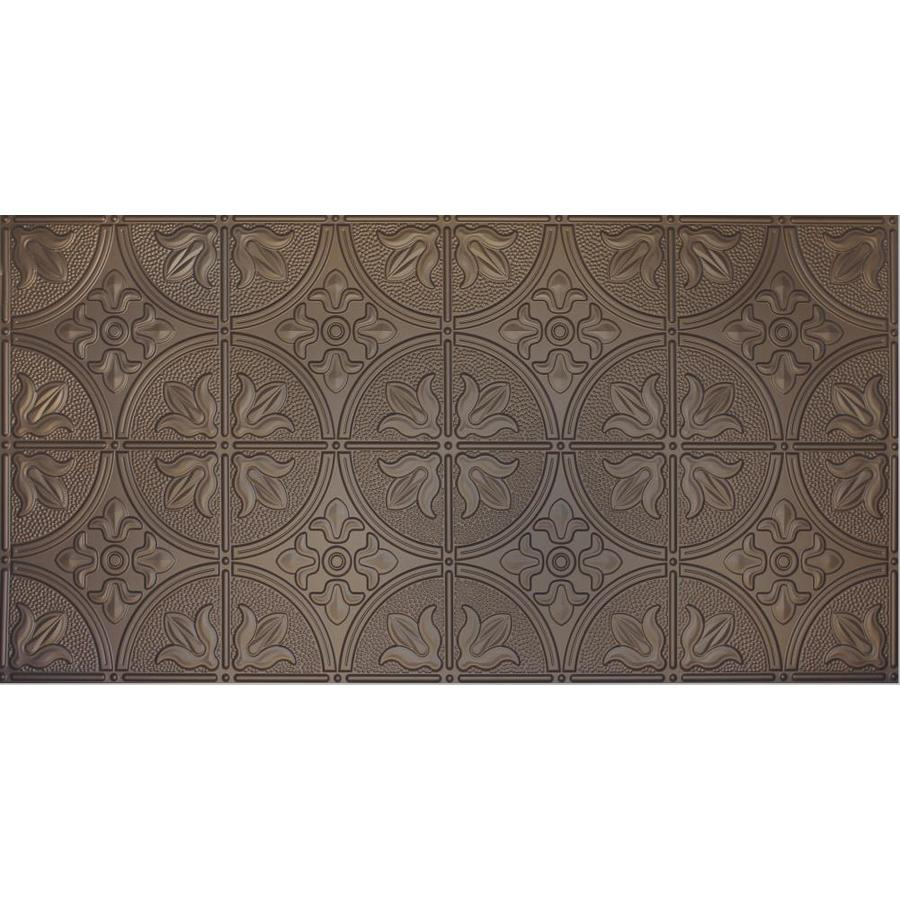 Dimensions Bronze Faux Tin Surface-Mount Ceiling Tiles (Common: 48-in x 24-in; Actual: 48.5-in x 24.5-in)