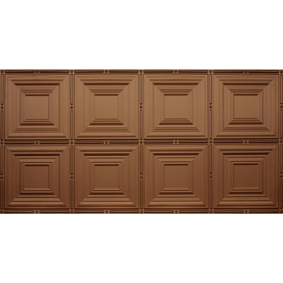 Dimensions Fused Bronze Faux Tin Surface-Mount Acoustic Ceiling Tiles (Common: 48-in x 24-in; Actual: 48.5-in x 24.5-in)