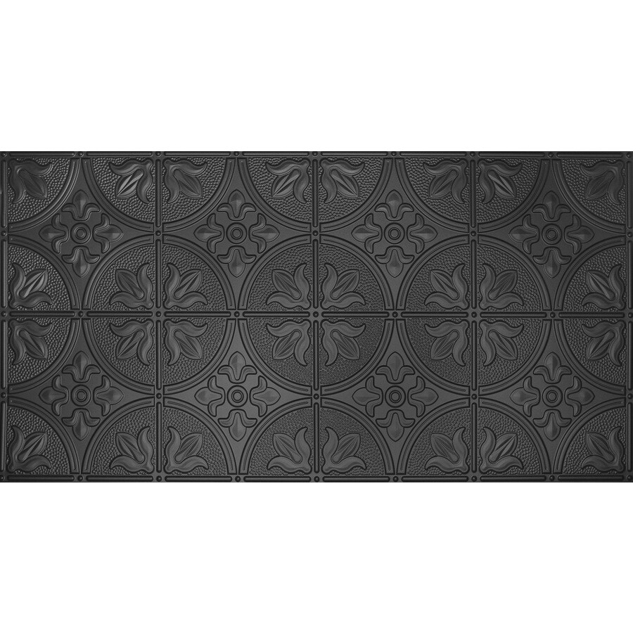 Dimensions Black Faux Tin Surface-Mount Ceiling Tiles (Common: 48-in x 24-in; Actual: 48.5-in x 24.5-in)