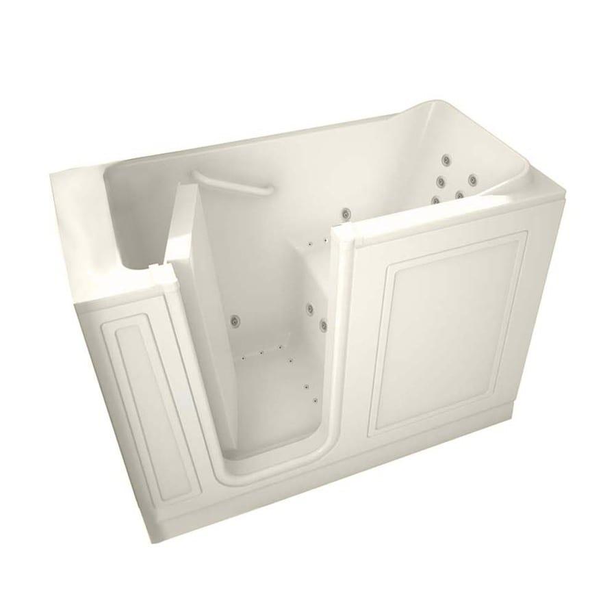 American Standard 48-in L x 28-in W x 38-in H Linen Gelcoat and Fiberglass Rectangular Walk-in Whirlpool Tub and Air Bath