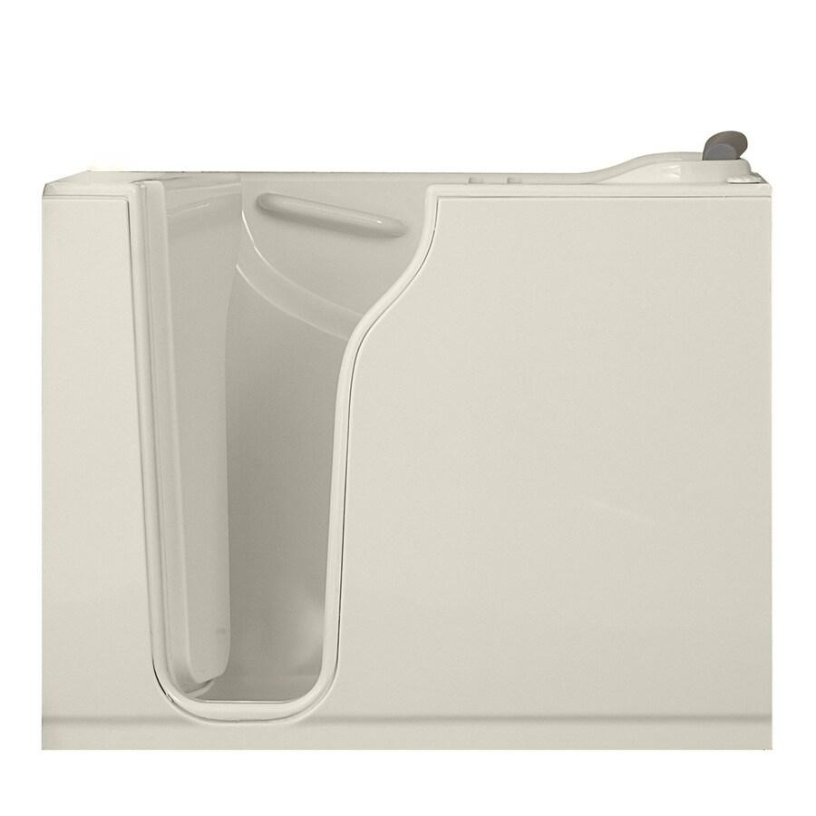 American Standard Walk-in Baths Linen Gelcoat and Fiberglass Rectangular Walk-in Whirlpool Tub (Common: 30-in x 52-in; Actual: 42-in x 30-in x 52-in)
