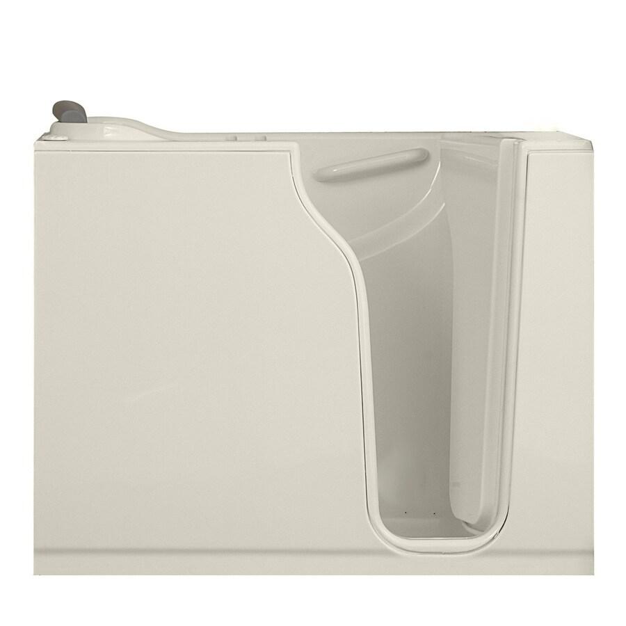 American Standard Walk-In-Baths 52-in L x 30-in W x 42-in H Linen Gelcoat and Fiberglass Rectangular Walk-in Air Bath