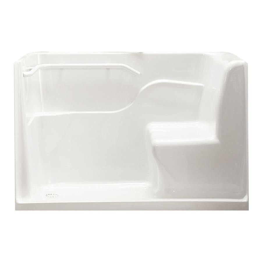 American Standard White Acrylic One-Piece Shower with Integrated Seat (Common: 30-in x 60-in; Actual: 38-in x 30-in x 60-in)