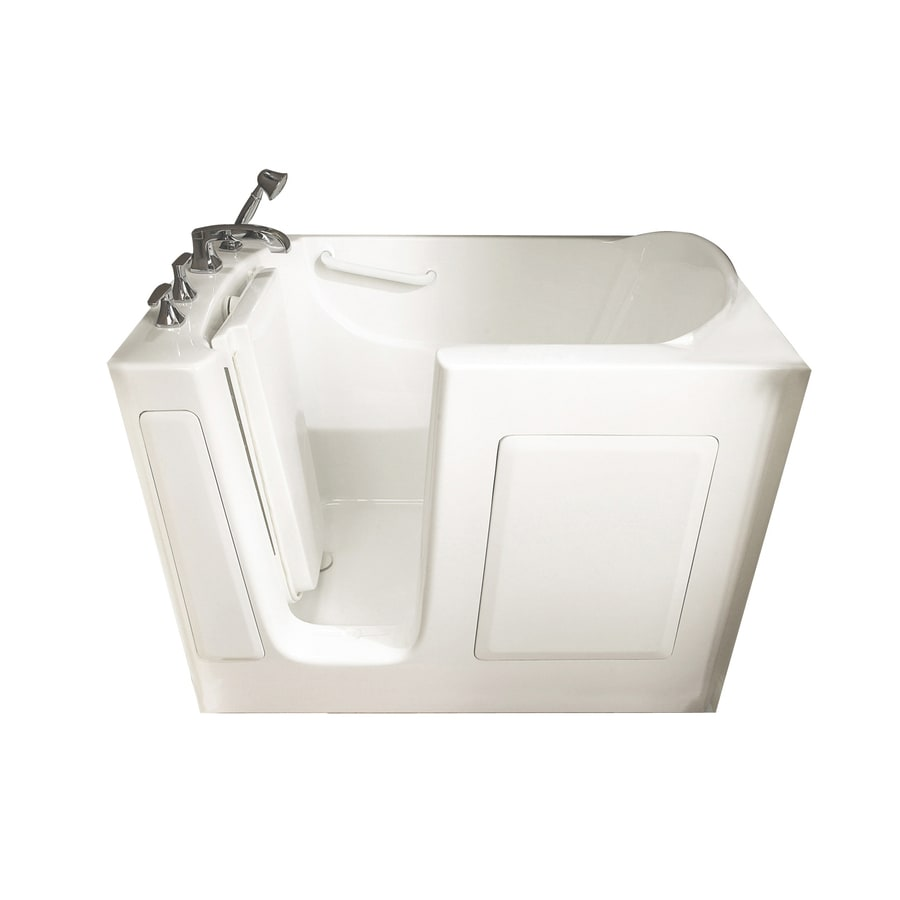 Shop American Standard Walk In Bath 50 In L X 30 In W X 37 In H White Gelcoat