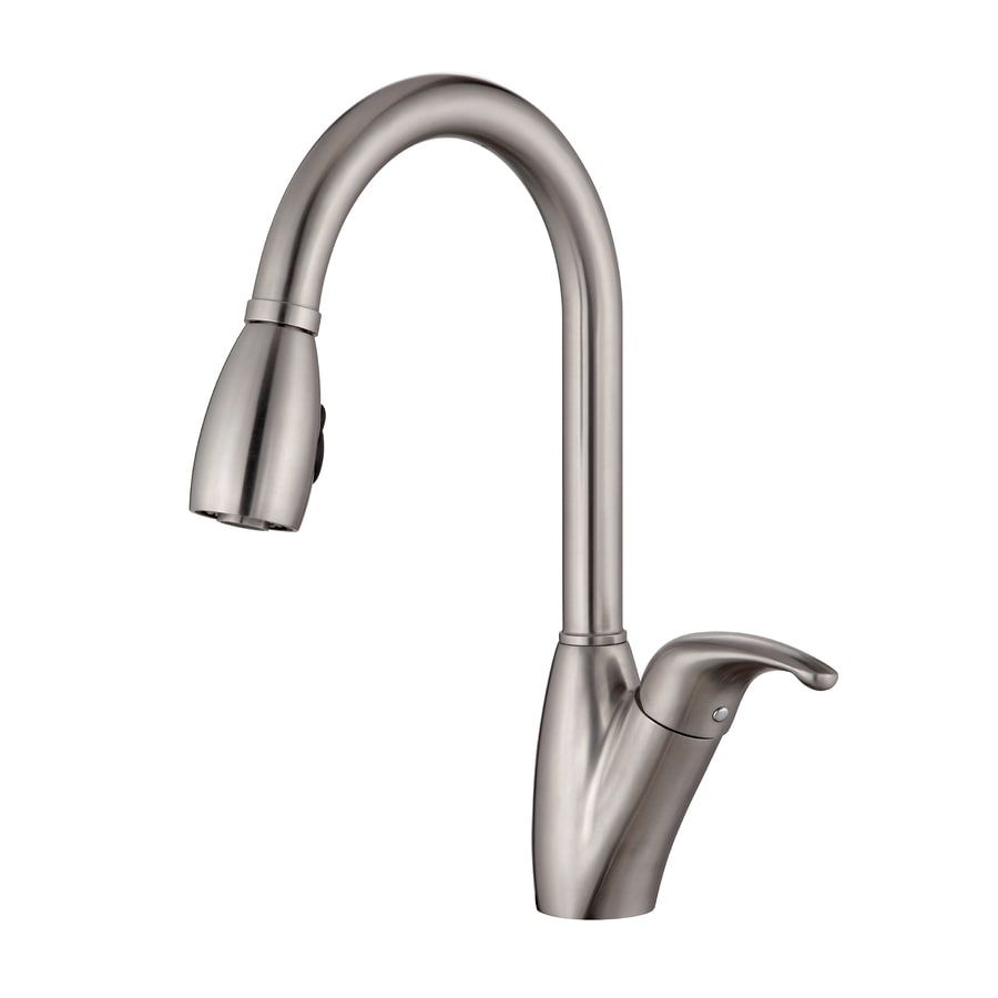 Shop Kraus Stainless Steel 1-Handle Pull-Down Kitchen Faucet at Lowes ...
